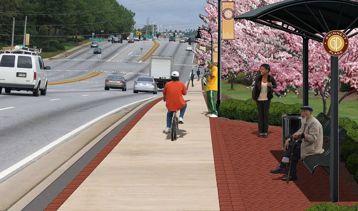 Pleasant Hill Road and Satellite Boulevard Streetscape Projects