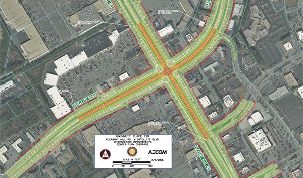 Satellite Boulevard at Pleasant Hill Road Intersection Improvement Project